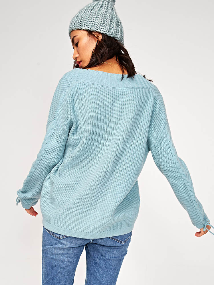 100%_Wool_Sleeve_VNeck_Sweater