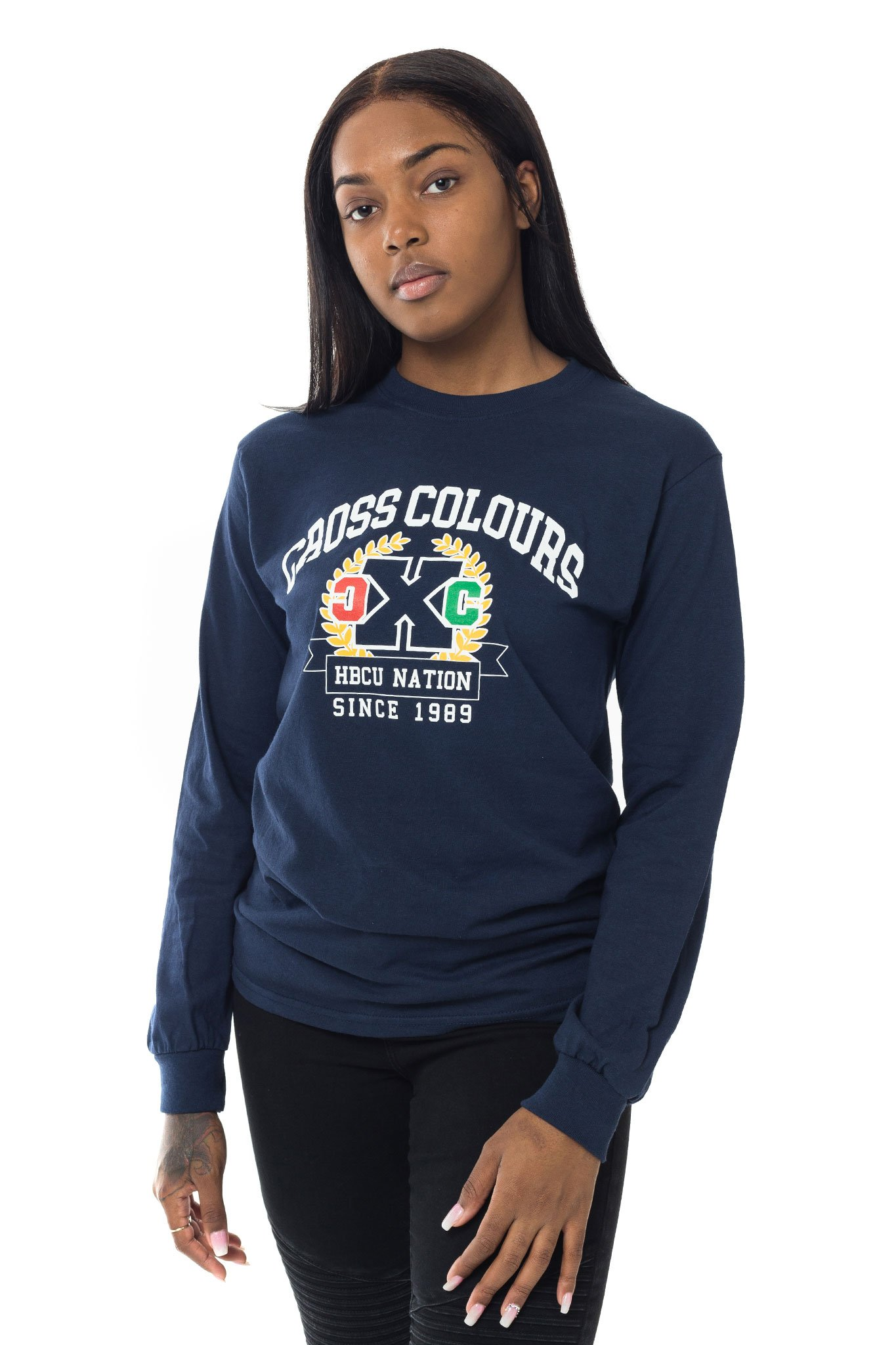 Cross_Colours_HBCU_Nation_Unisex_Long_Sleeve_TShirt__Navy