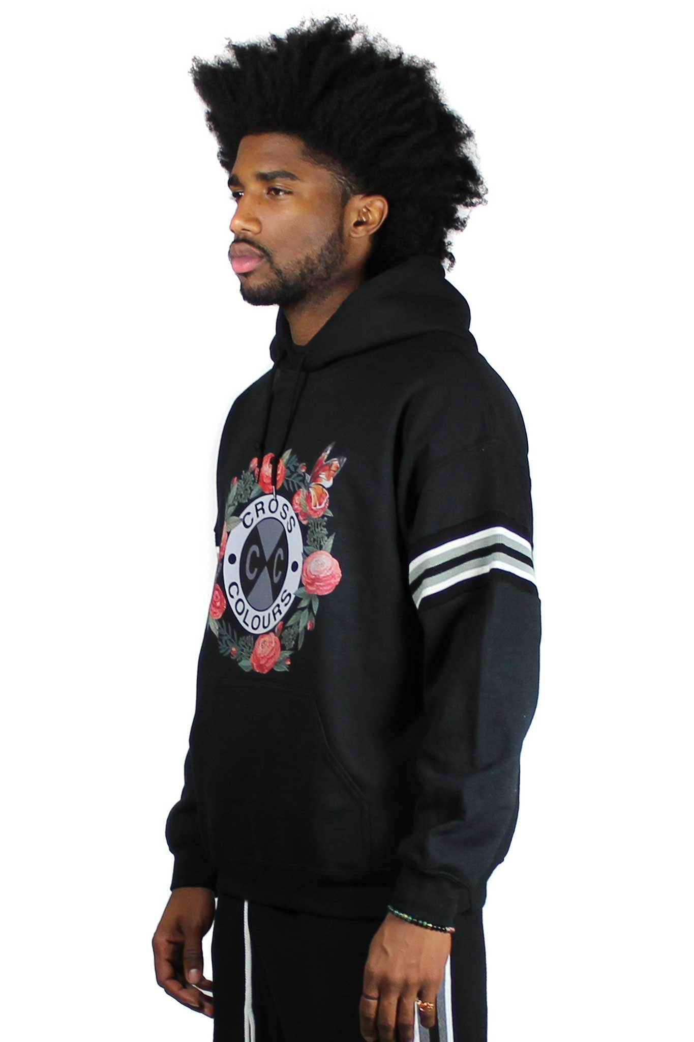 Cross_Colours_Rose_Circle_Logo_Hoodie__Black