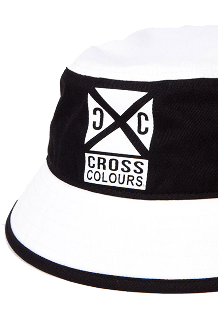 CROSS_ROADS_COLOR_BLOCK_BUCKET_HAT__BlackWhite