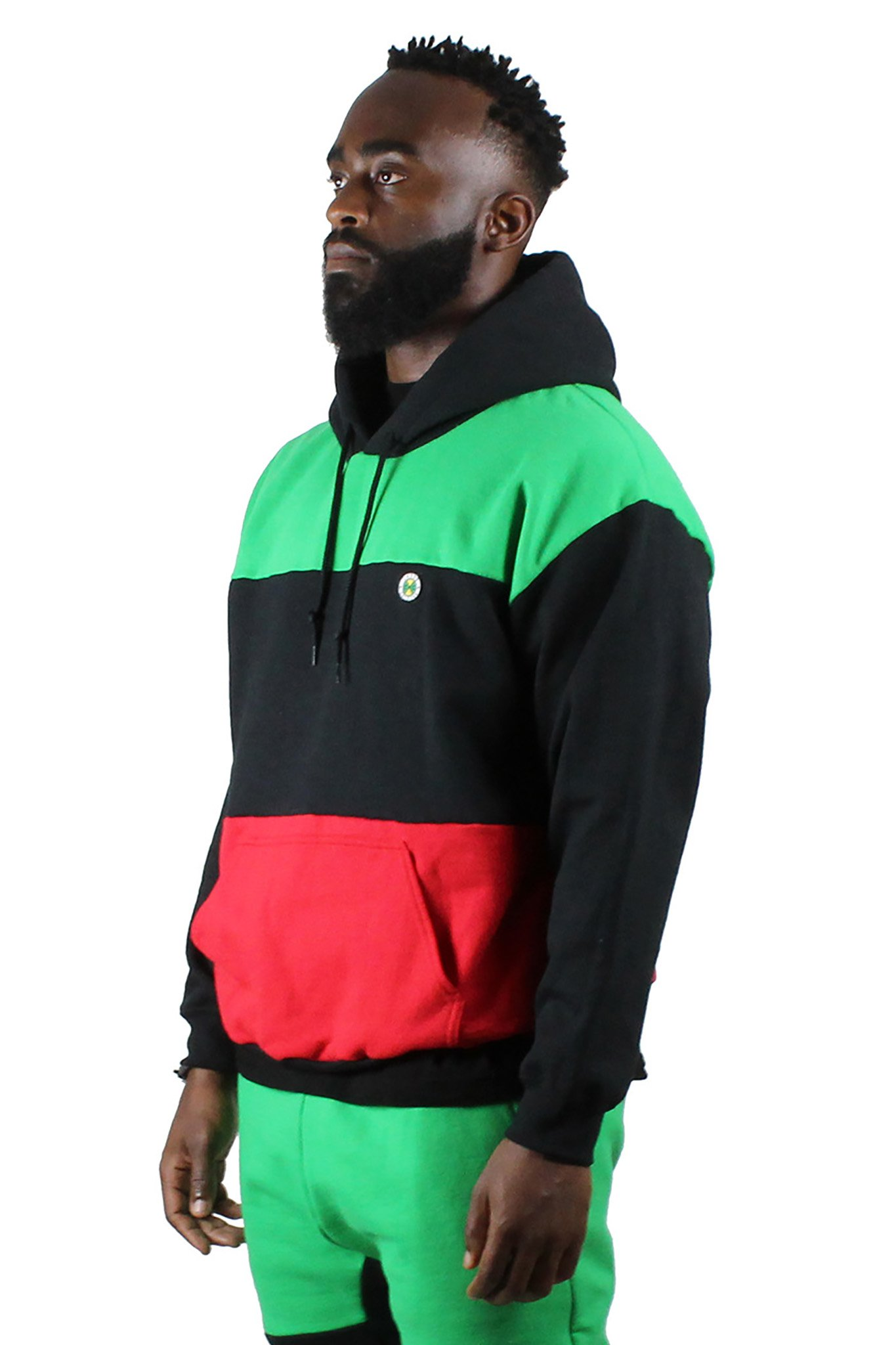 Cross_Colours_Horizontal_Color_Block_Pullover_Hoodie__RedBlackGreen