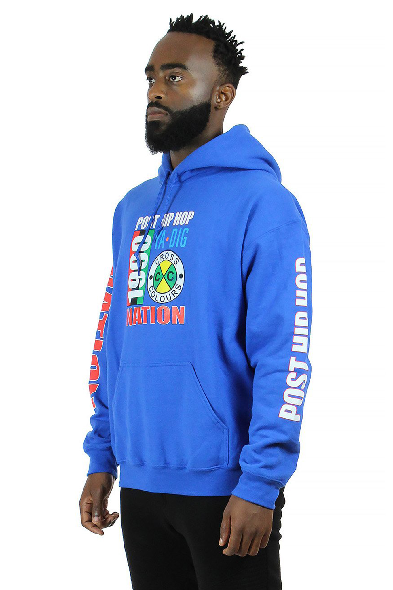 Cross_Colours_Post_Hip_Hop_Nation_Pullover_Hoodie__Blue