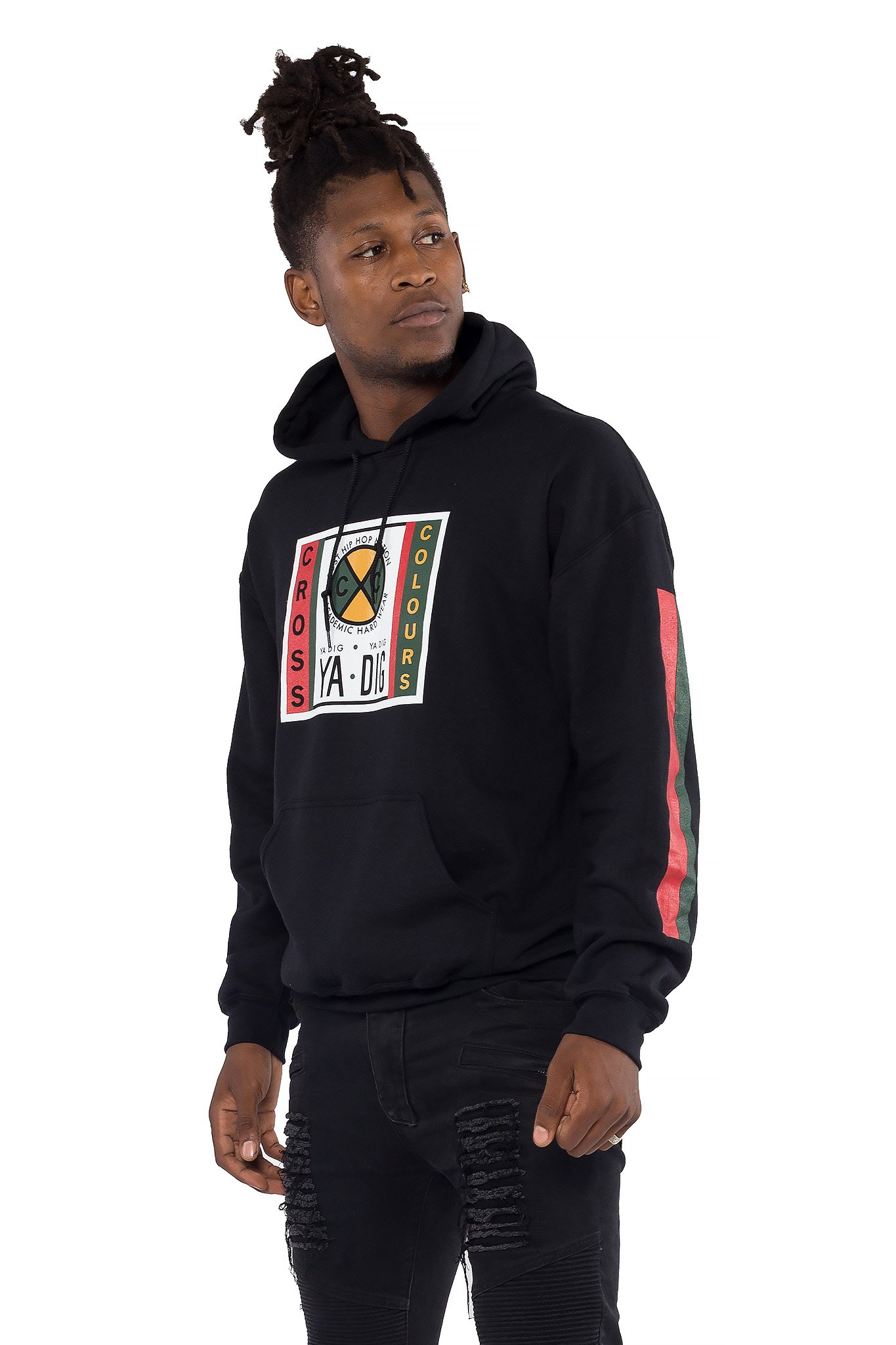 Cross_Colours_Label_Logo_Pullover_Hoodie__Black