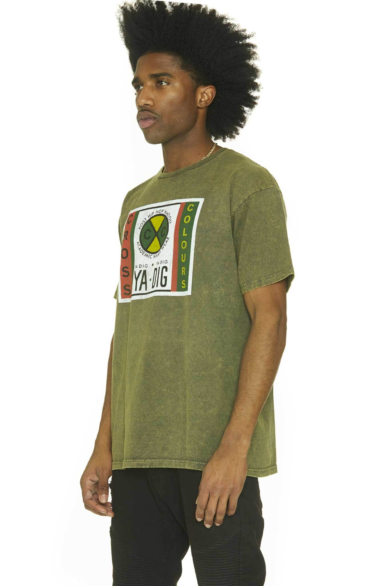 Cross_Colours_Label_Logo_TShirt__Olive